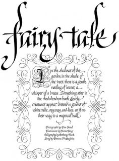 "Old English calligraphy, also referred to as blackletter script, means ""beautiful writing,"" derived from the Greek words ""calli"" an..."