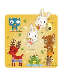 Djeco puzzel Nono en vriendjes 21x21x1 cm