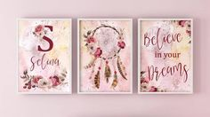 Home Printers, Nursery Wall Art, Mixed Media Art, Believe In You, Printable Wall Art, Home Deco, Dreaming Of You, Craft Supplies, Bohemian