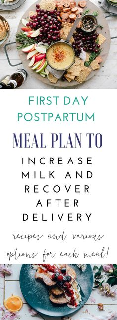 Meal ideas for the first days postpartum