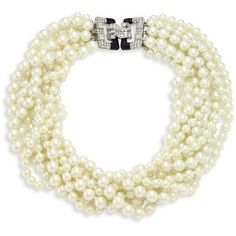 Kenneth Jay Lane Eight Strand Faux-Pearl Necklace