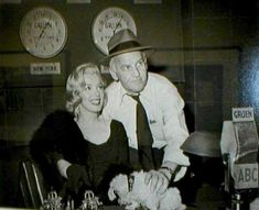 Marilyn Monroe at the ABC station in 1953 interviewed by the gossip columnist Walter Winchell