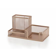 Your desk will never look a mess again with this stylish rose gold tidy tray. With various sections, it's perfect for popping pens, memos, pencil  sharpeners, paper clips and other bits and bobs in; it'll keep your home office looking stylish too.