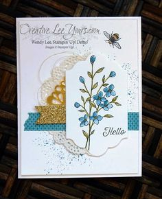 Textured Hello By Wendy Lee, Stampin' Up!, stamping, hand made cards, Touches of…