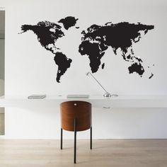 Cute Wall sticker worldmap with pinpoints x cm Great for a travelers home