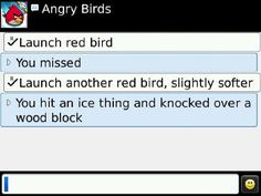 What AngryBirds would look like on a BlackBerry ;)