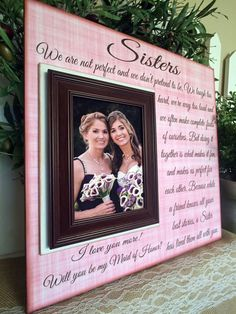 Sister Maid of Honor Gift Thank You Wedding Gift by MemoryScapes