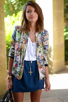 Floral bomber jacket...love!