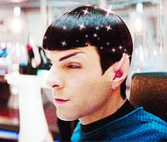 """Why is Kirk """"Perfect hair,"""" if you ask me, it's Spock. xDD"""