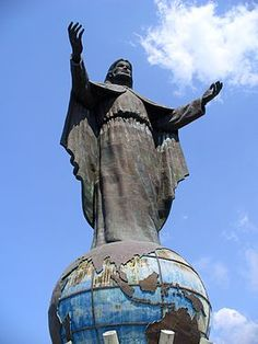 Cristo Rei of Dili (Christ the King of Dili) is a 88ft tall statue of Jesus atop a globe in Dili, East Timor