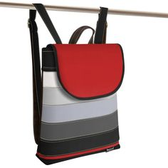 Jarry Uni Five black , red and gray Red And Grey, Gray, Backpacks, Uni, Bags, Fashion, Handbags, Moda, Fashion Styles
