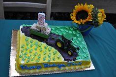 Jack's tractor birthday cake