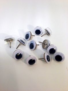 Googly Eye Push Pins - good idea if using on corkboard at school, work or home