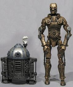 C3-PO and R2-D2, another steampunk version