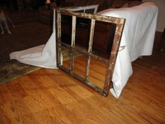 Reclaimed, Antique Cypress Window Converted into a Mirror