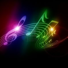 Pictures Music Terms White Backgrounds | Colorful Music Notes Background