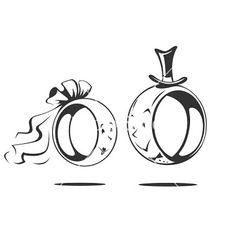 Bridegroom and bride wedding vector 1346009 - by sweetok on VectorStock® Wedding Bräutigam und Braut