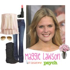 """""""Maggie Lawson Outfit"""" by sunshine-789 on Polyvore"""