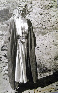 A rare signed photograph of T.E. Lawrence. You can see his signature in the bottom left-hand corner. The photograph was taken in October 1917.
