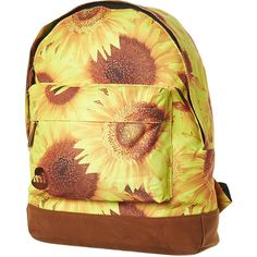 Mipac Sunflowers Backpack ($21) ❤ liked on Polyvore featuring bags, backpacks, sunflower yellow, zip bags, zipper bag, heart bag, yellow backpack and top handle bag