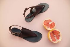 ATP Atelier sandals May in chocolate vacchetta leather