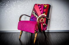 vintage patchwork armchair In Bloom by MURGOcraft on Etsy