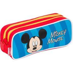 Estojo Mickey 14Y Duplo - Estojo com zíper e duas divisões - Puxador do zíper personalizado Largura 22cm x Altura 9cm x Profundidade 7cm Fabricante: Sestini