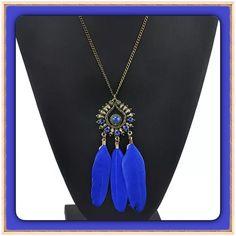 Boho Feather Statement Necklace NEW Stylish Pendant Boho Feather Necklace. NEW Jewelry Necklaces