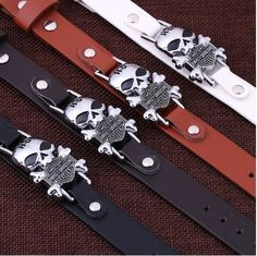 """Wristband+measures+approx.+10""""+in+length+by+0.80""""+in+width.+Band+is+faux+leather.+Could+fit+a+man+or+a+woman."""