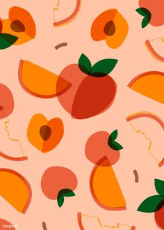 Tropical peach fruit pattern vector | free image by rawpixel.com / busbus / NingZk V. Fruit Illustration, Pattern Illustration, Food Illustrations, Fruit Pattern, Pattern Art, Pattern Design, Food Patterns, Print Patterns, Free Vector Patterns