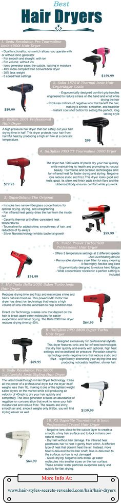 Best hair dryers - I love the one I have now. but if I ever need to look for a new one or give a tip. Best hair dryers - I love the one I have now. but if I ever need to look for a new one or give a tip. Natural Hair Styles, Short Hair Styles, Best Hair Dryer, Hair Secrets, Haircuts For Fine Hair, Professional Hairstyles, All Things Beauty, Beauty Stuff, Hair Tools