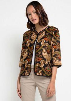 Batik Blazer, Blouse Batik, Batik Dress, Outer Batik, Batik Kebaya, Batik Fashion, Work Attire, Fashion Outfits, Womens Fashion