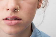 60fb878ff Tribal Nose Ring, Indian Nose Hoop, Indian Nose Piercing, Nose Ring, Nose  Jewellery, Nostril Ring, SOLID 14K Gold, Nose Hoop, Moon Nose Ring