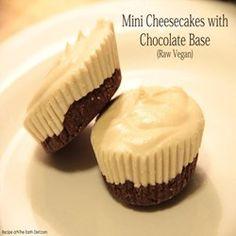 Mini Cheesecakes with Chocolate Base (Raw Vegan) Recipe