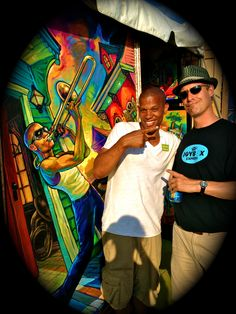 with new orleans painter (and jazz festival poster artist) terrance osborne