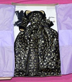 "Madeleine Rose Couture OOAK Designer Outfit Black Gold Orig Box Fits Most 16"" Fa"