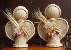 Christmas Fabric Crafts, Handmade Christmas, Diy And Crafts, Christmas Crafts, Arts And Crafts, Christmas Decorations, Christmas Ornaments, Angel Crafts, Nativity Crafts