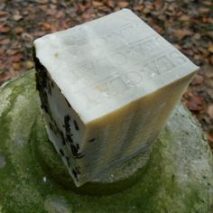 handmade organic holiday soap with a cool mint scent, the perfect gift