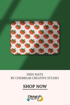 Tomatoes Dish Mat by Cherbear Creative Studio Sustainable Living, Sustainable Fashion, Tomato Dishes, Eco Friendly House, Etsy Business, Creative Studio, Tomatoes, Fabric Design, Graphic Design