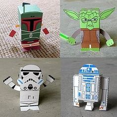 Free paper printables for Star Wars toys. Awesome