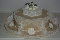 wedding cake filigree royal icing By dezoetetaart on CakeCentral.com