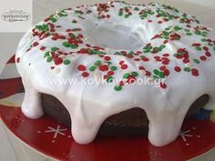 Greek Sweets, Greek Desserts, Vanilla Coffee Cake Recipe, Greek Cake, White Chocolate Cake, Glass Cakes, Crazy Cakes, Christmas Cooking, Sweets Recipes