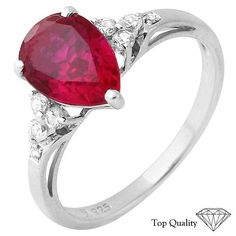 Bulk Items For A Great Price!  50 Pieces of Assorted Created Ruby, Created White Sapphire and Diamond Ring (Brand New), Retail $2,700