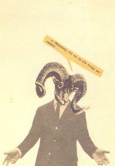 Collage Postcard by Wislawa Szymborska (to Ireny Szymanskiej & Ryszarda Matuszewskiego, undated)