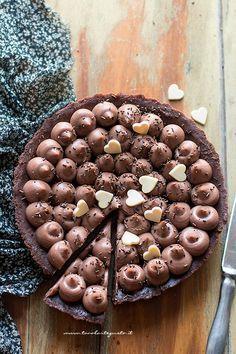 Crostata alla Nutella senza cottura - Ricetta Crostata senza cottura alla nutella