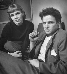 Happy birthday to Marlon Brando! Brando was nominated eight times for an Academy Award—he won twice. 📷Jocelyn and Marlon Brando by Lisa Larsen, 1948 Hollywood Stars, Classic Hollywood, Old Hollywood, Lisa, Anton, Celebrity Siblings, Actor Studio, Cinema, George Clooney