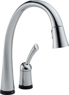 Delta 980T-DST Pilar Single Handle Pull-Down Kitchen Faucet with Touch2O and Diamond Seal Technology in Chrome $367.18
