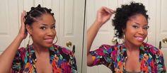 Bantu Knot Out on Relaxed Hair - BellaNaija