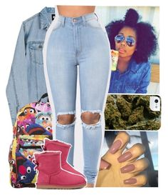 """""""""""A Boogie w/ da Hoodie"""" ✨"""" by theyknowtyy ❤ liked on Polyvore featuring Cheap Monday, Sesame Street and UGG Australia"""
