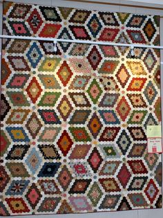 'White House Hexagons' 'Best Traditional' quilt winner 3rd place in 'Professional Pieced' Chosen by Queensland Quilters Inc for inclusion in the Queensland display at the 2016 Australasian Quilt Convention in Melbourne.